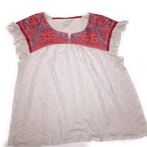 One September Anthropologie S embroidered blouse
